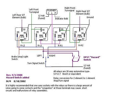 Turn Signal Wiring 2 Bulb System To 1 Bulb System