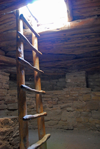 Inside the kiva at Spruce Tree House, Mesa Verde by you.