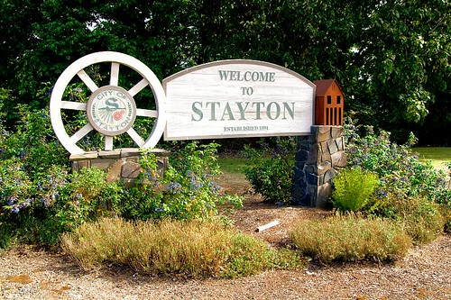 Welcome To Stayton Oregon Sign