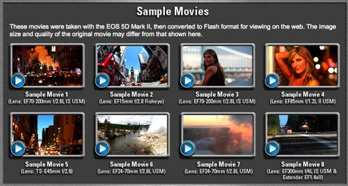 Official Canon EOS 5D Mark II sample movies