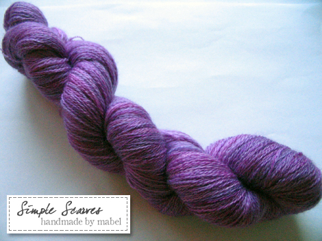 Merino/Cashmere/Silk laceweight in Purple Haze