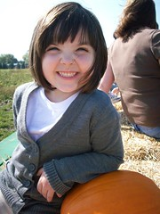 Julia and her pumpkin