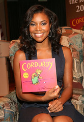 Gabrielle Union getting ready to read a book