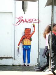 #Explore# OsGemeos em Curitiba (DeniSomera) Tags: streetart graffiti curitiba rua osgemeos