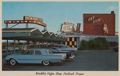 Waddle's Coffee Shop - Portland, Oregon (The Pie Shops Collection) Tags: ford oregon vintage portland postcard restaurants galaxie 1961 waddles