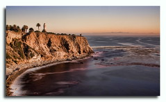 Lighthouse at Palos Verdes (Daryl's World TTL) Tags: ocean cliff lighthouse seascape palosverdes pointconception pennisula nd400 blackhandtechnique