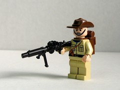 BrickArms Lewis Gun prototype (clip version) (Dunechaser) Tags: soldier army gun lego wwii australian lewis australia worldwarii prototype weapon ww2 accessories minifig minifigs custom weapons anzac worldwar2 prototypes allies accessory allied brickarms