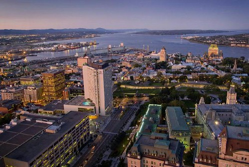 Québec vue de l'Observatoire de la Capitale