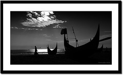 Life against the sea. (Z.Faisal) Tags: life sea bw cloud man black water dark boat blackwhite fisherman nikon working silhouettes sailor nikkor bangladesh bangla faisal desh d300 zamir zamiruddin zamiruddinfaisal zfaisal