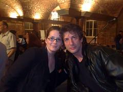 Lobelia and Neil Gaiman in London (Lobelia Lawson) Tags: lobelia neilgaiman cryptonthegreen