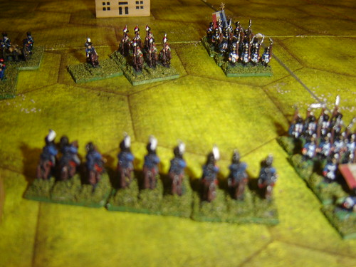 Prussian hussars push back French lancers