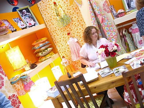 Sandi Henderson's booth (and Sandi!)