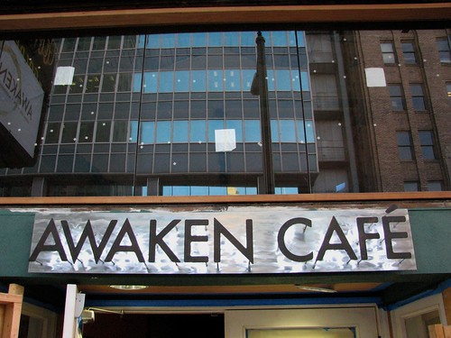 Awaken Cafe Sign - Done!