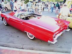 1957 Ford Thunderbird 'OCL 222'  2 (Jack Snell - Thanks for over 21 Million Views) Tags: ca old summer wallpaper hot bird classic ford wall vintage paper t antique historic danville 1957 nights oldtimer veteran thunderbird 222 tbird ocl jacksnell707 jacksnell