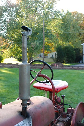 Our cool old-fashioned tractor