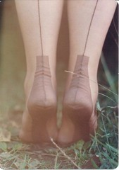 (way too) close up (seamz4evr) Tags: feet stockings outdoors soles fully nylons fashioned seams seamed
