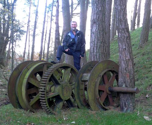 Stair old mine winding wheels 15Nov08