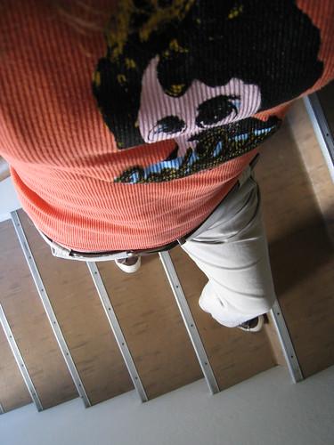 52 Weeks: Week 43: Waiting on the Stairs.