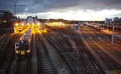 Clapham Junction Evening (clagnut) Tags: railroad sunset london train tracks railway fave railwaystation claphamjunction sidings