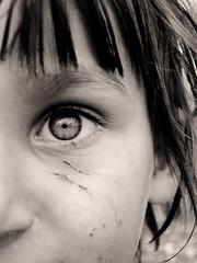 Here's autumn (Moon_son) Tags: poverty november autumn portrait eye fall sepia scratches kosova kosovo littlegirl pratibimbsangli starogracko
