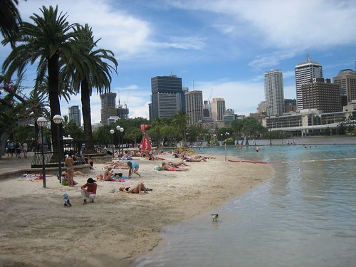Artificial beach,Parklands, Brisbane