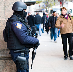 NYPD PR team (Tony Shi Photos) Tags: nyc newyorkcity cops police gear machinegun guarding k9  emans streetshot swatteam ert tactical   martiallaw    securing  emergencyserviceunit nypdesu m4carbine nikond700     thnhphnewyork   tonyshi heavilyarmed nationalmachine toteeth  operationhercules   coltm4carbine