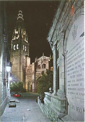 Caedral y Plaza del Ayuntamiento de Toledo en los años 70