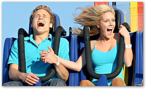 Heidi Montag, Spencer Pratt on Roller Coaster