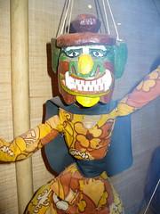 Burmese Puppet 06 - Yellow Demon detail front