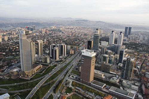 Photo taken from the top of the highest skyskaper being built in Istanbul - Sapphire - 526m.
