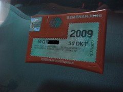 [WTS]Roadtax protective sticker (IMPROVED VERSION), YOUR BEST SOLUTION EVER FOR YOUR ROADTAX (Small Accessories)  3091337469_22207af3c7_m