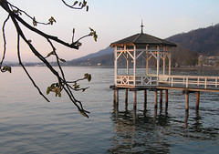 Bodensee - Bregenz, Österreich (Neil Pulling) Tags: sunset lake austria österreich sonnenuntergang bregenz bodensee vorarlberg lakeconstance olympusc765uz blickpunkt