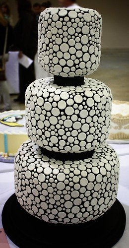 Dotted, Tiered Cake