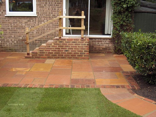 Indian Sandstone Patio and Lawn Image 22