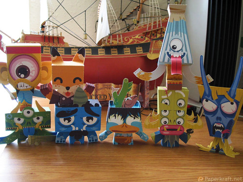 Japanese Monster Papercrafts 01
