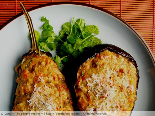 Ingredients for Stuffed Eggplant