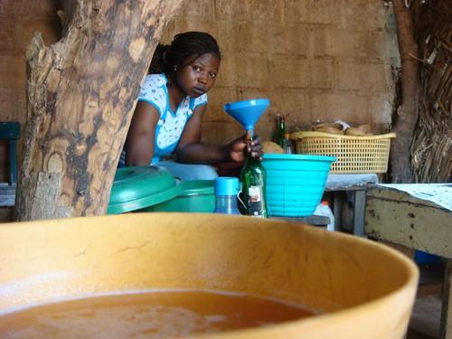 Millet beer in Ouaga...