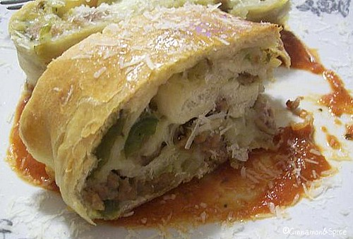 Sausage & Pepper Stromboli