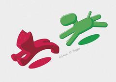 Julian and Puppy (zhazha0601) Tags: dog cat puppy design julian graphic eero magis aarnio javier mariscal magis