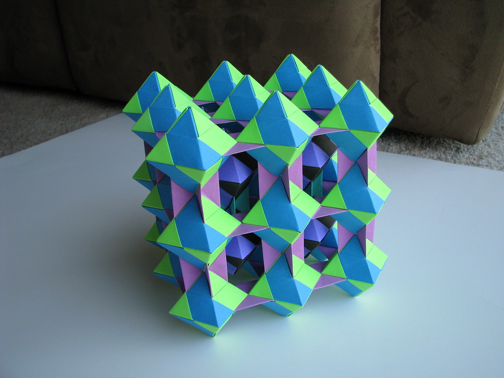 The Worlds Most Recently Posted Photos By Stephen27s Origami Tomoko Fuse Diagrams Unit Dual Triangles 4 Green Blue Purple Black Stage