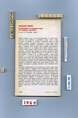 (Marcello Argilli) Ragazzi negri, Feltrinelli 1969. Quarta di copertina (Silvio Coppola)
