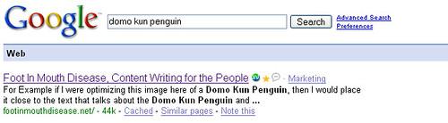 domo kun penguin serp