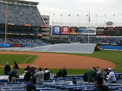 Tarp come off the field!