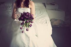 American Gothic Bride (HelenPalsson) Tags: wedding bride tulips kendall canonef50mmf14usm 20080419