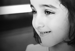 Her Innocent look ..~ (heartbreaker [London]) Tags: bw white black cute girl smile look kid girly innocent adorable bandw fofo fatma fofa tota fatooma