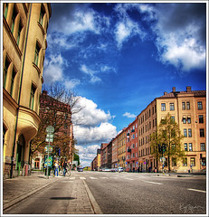Spring in Stockholm (Kaj Bjurman) Tags: sky architecture clouds eos spring sweden stockholm hdr kaj vasastan cs3 birkastan torsgatan photomatix 40d bjurman