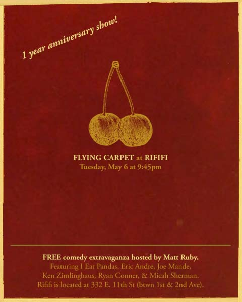 Flying Carpet 1 year anniversary show