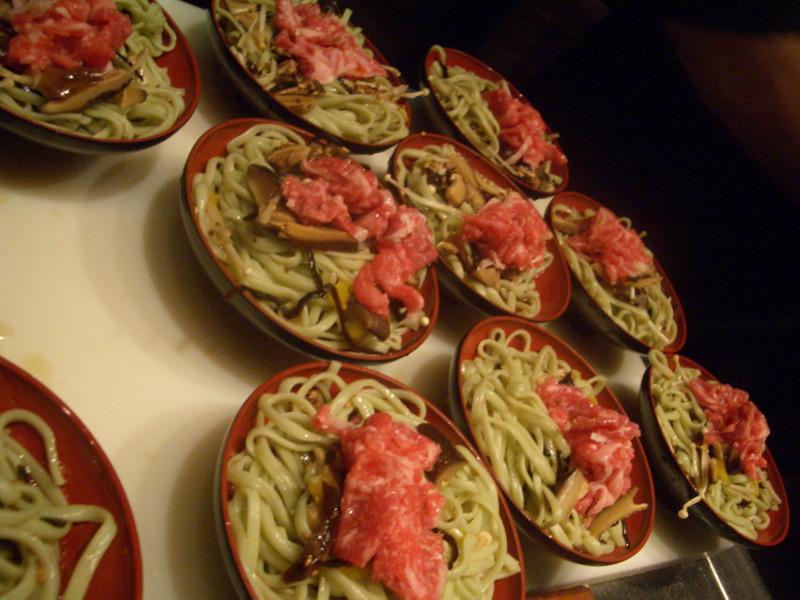 Spinach soba noodle salad