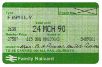 Family rail card