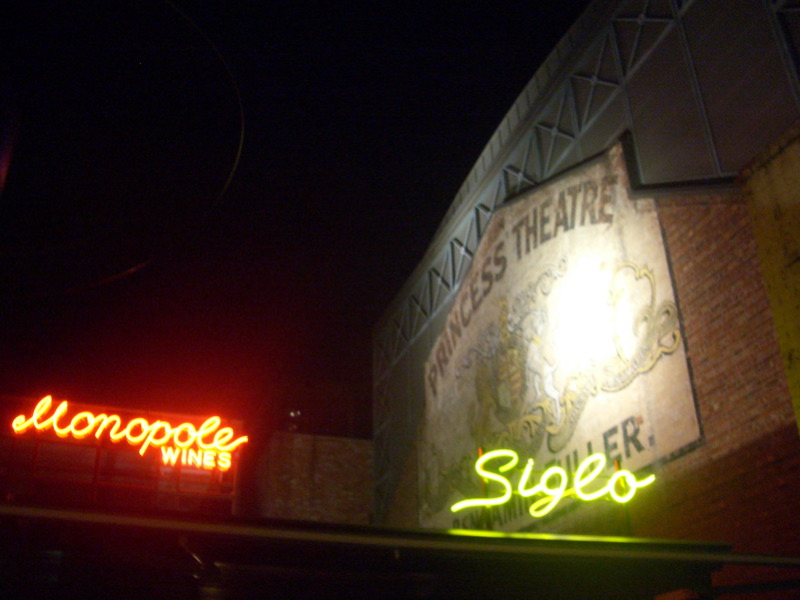 Siglo, wall of Princess Theatre